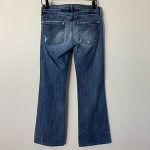 7FAM Distressed Dojo Jeans Size 27 Blue 053